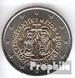 Eslovaquia 2013 Stgl./unzirkuliert tirada 1 m. 2013 2 Euro Cyrill y Method (monedas para los coleccionistas)