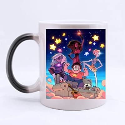 Good_quality Custom Stevens Universe Morphing Mug Coffee Mug Tea Cup Heat Sensitive Color Changing Mug 11 Oz Two Sides Print