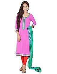 Tehzeeb Women's Faux Georgette Straight Salwar Suit - B016BH6ZTA