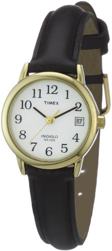 Timex Ladies Classic Watch with Black Leather Strap - T2H341