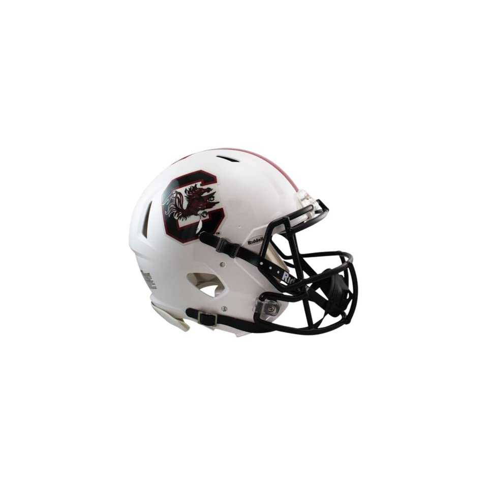 NCAA South Carolina Fighting Gamecocks Speed Authentic Helmet, White