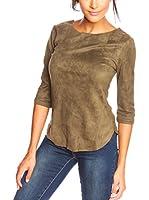 La Belle Francaise Camiseta Manga Larga Noa (Caqui)