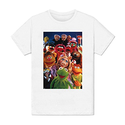 T-Shirt Women - Round Neck White - France - Muppet Show - kermit - peggy - tv funny amusing caracters