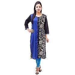 Kyaara Womens Cotton Ethnicwear Kurta (Ky00503B_3Xl_Blue)