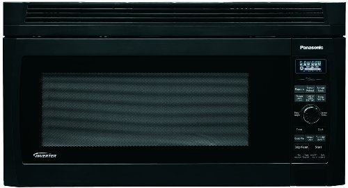 Panasonic NN-SD277BR 2.0cuft, 1200 Watt Over the Range Microwave Oven, Black, Inverter Technology