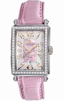 Gevril Women's 6208RL Glamour Automatic Pink Diamond Watch