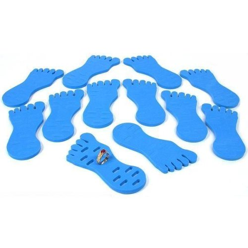 12 Toe Ring Displays Foam Foot Blue Body Jewelry Holder12 Toe Ring Displays Foam Foot Blue Body Jewelry Holder