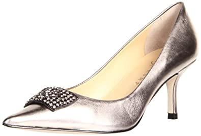Ivanka Trump Women's Idalia Pump,Pewter Leather,9.5 M US