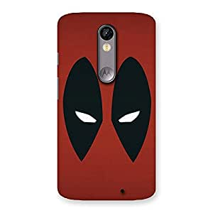 Enticing Red Dead Black Eye Back Case Cover for Moto X Force