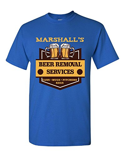 Marshall S Beer Removal Service Cans Mugs Pitchers Kegs - Adult Shirt (Marshall Service Shirt compare prices)