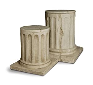 Amazon Com Roman Column Plant Stand Container Set Of 2