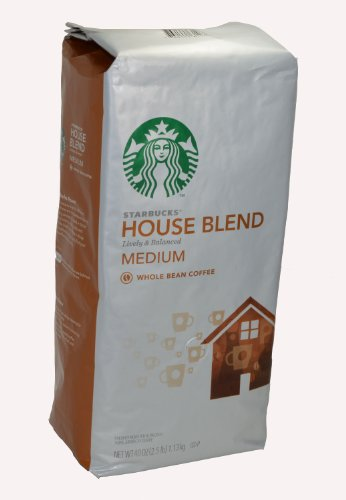 Starbucks House Blend Whole Bean Coffee, 40-Ounce