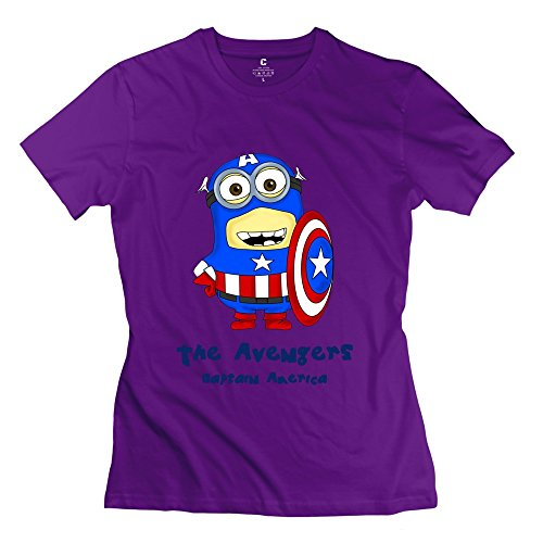 Particular The Avengers Captain America Tshirts Personalised Custom For Women Purple