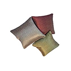AAZEEM Glitter Cushion Cover Pack of 3