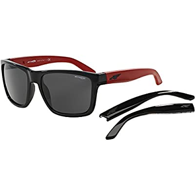 Arnette Witch Doctor Unisex Sunglasses - 2308/87 Gloss Black/Psych Red/Grey