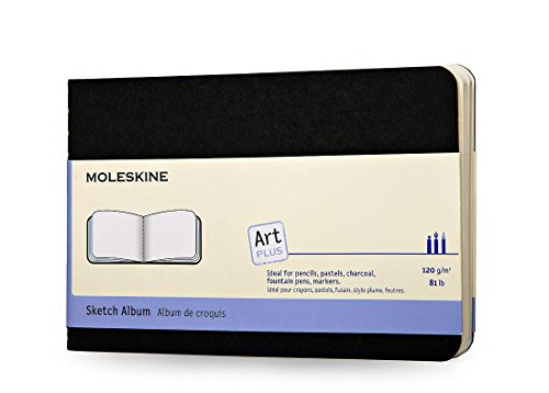 Moleskine Art Plus Plain, Black Pocket Sketchbook