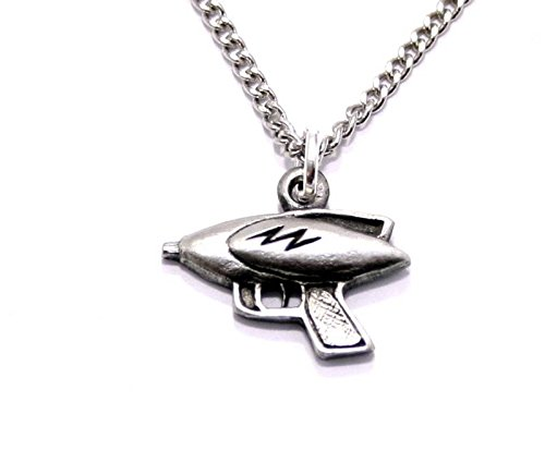 Ray Gun Pendant Necklace In Fine English Pewter (Gift Boxed)