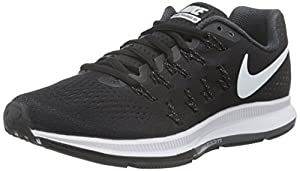 Nike Women's Wmns Air Zoom Pegasus 33 Training, Black (Black/White-Anthracite-Cl Grey), 4.5 UK