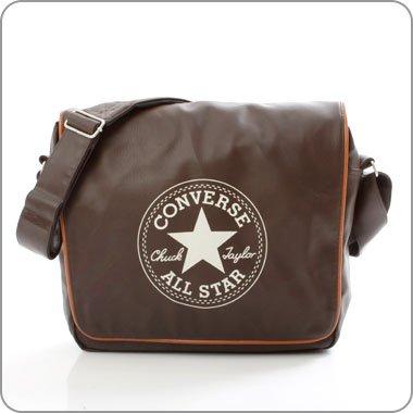 Converse Vintage Patch Shoulder Flap Bag Tasche Chocolate Brown 21