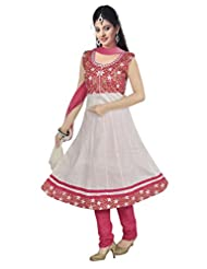 Alethia White Color Embroidered Cotton Stitched Salwar Suit