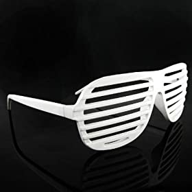 NEW KANYE STRONGER SHUTTER SHADES HIP HOP SUNGLASSES WHITE