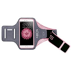 Apple iPhone 7 Armband, Pink GBOS Sweat-Free, Gym, Running, Jogging, Walking, Hiking, Workout and Exercise Sport Armband For iPhone 7 with Extra Adjustable-Length Extention Band & Key Slot