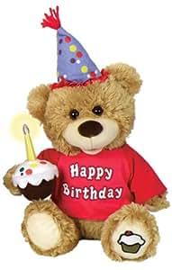 "Chantilly Lane Chantilly Lane CupCake Birthday Bear Sings ""Happy Birthday"" 10"" Plush"