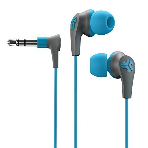 JLab JBUDS2-BLU-FOIL  JBuds2 Premium in-ear Earbuds Guaranteed Fit, Guaranteed for Life - Blue