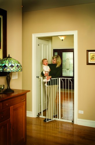 Regalo Easy Step Extra Tall Walk Thru Gate, White (Extra Tall Pressure Mount Gate compare prices)