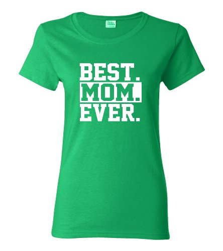 Medium Irish Green Womens Best Mom Ever #1 Mom World''s Best Mom Mother''s Day T-Shirt