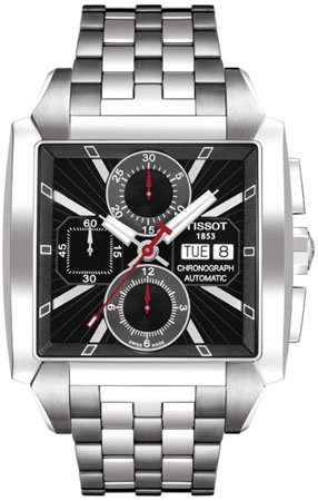 NEW TISSOT T-TREND QUADRATO MENS WATCH T005.514.11.061.00