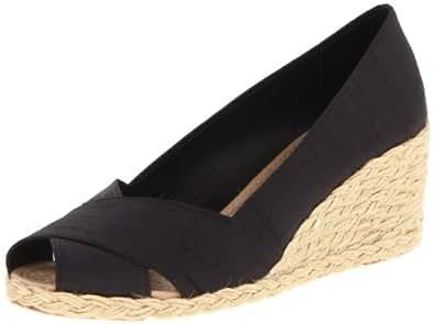Lauren Ralph Lauren Women's Cecilia Wedge Espadrille Sandal,Black,5 M