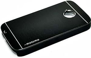 Motomo Premium Brushed Full Metal Protective Hard Back Case Cover For Motorola Moto E - Black