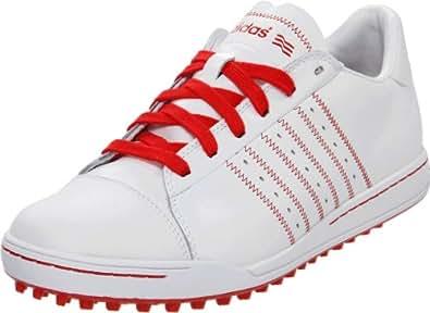 adidas Men's Adicross Golf Shoe,White/Red/Red,10.5 M US