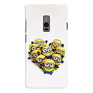 ColourCrust OnePlus 2 Mobile Phone Back Cover With Happy Minions - Durable Matte Finish Hard Plastic Slim Case