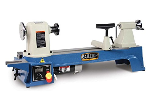 Baileigh WL-1220VS Bench Top Variable Speed Wood Turning Lathe, Heavy Duty, 110V, 12 Swing, 20 Between Centers baileigh wl 1840vs heavy duty variable speed wood turning lathe single phase 220v 0 to 3200 rpm inverter driven