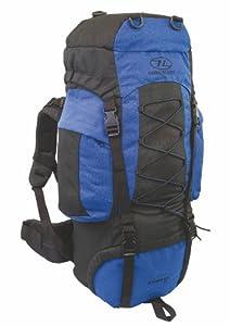 Hiking Back Pack Rucksack Highlander Backpack Camping Travel Bag Blue Grey 44L 66L 88L (Blue, 44 Litre)