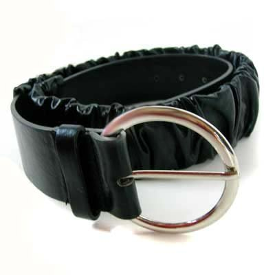 STRETCHABLE BLACK BUNCHED LEATHER STYLE FASHION BELT - Buy STRETCHABLE BLACK BUNCHED LEATHER STYLE FASHION BELT - Purchase STRETCHABLE BLACK BUNCHED LEATHER STYLE FASHION BELT (Luxury Divas, Luxury Divas Belts, Luxury Divas Womens Belts, Apparel, Departments, Accessories, Women's Accessories, Belts, Womens Belts)