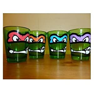 Teenage Mutant Ninja Turtles Faces 4-pack Shot Glasses