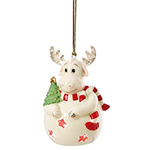 Lenox Pierced Lit Moose Ornament