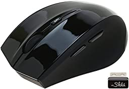 ShhhMouse Wireless 5-Button Optical Mouse with 1000, 1200 and 1600 DPI Switch - Black