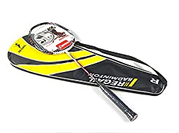 Regail Professional Match Carbon Fiber Badminton Racket Speed Battledore Racquet with Carry Bag