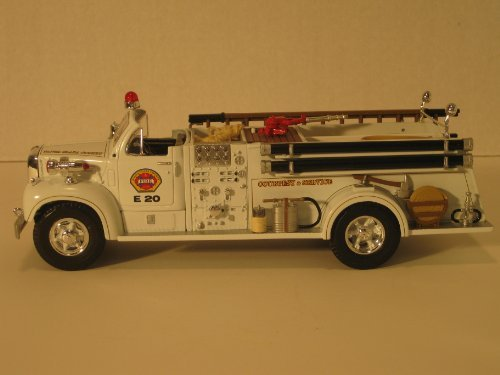 First Gear Die Cast Truck, 19-2749, 1960 B Mack Open Cab Fire Pumper with Santa Clara Logo, 1/34th Scale (Diecast First Gear compare prices)