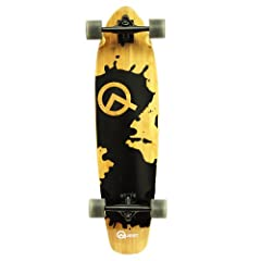 Buy Quest Rorshack Bamboo Longboard Skateboard (34-Inch) by Quest