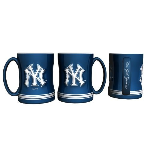 Reliefmug New York Yankees Ny 15Oz Relief Coffee Mug From Boelter Brands Mlb Fan Major League Baseball Game Decoration Accessories