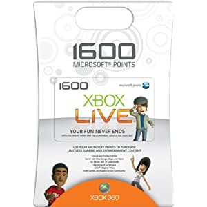 41wCjdhXWVL. AA300  Xbox 360 3200 Live Points Card w/ $5 MP3 Credit   $33 + free S&H