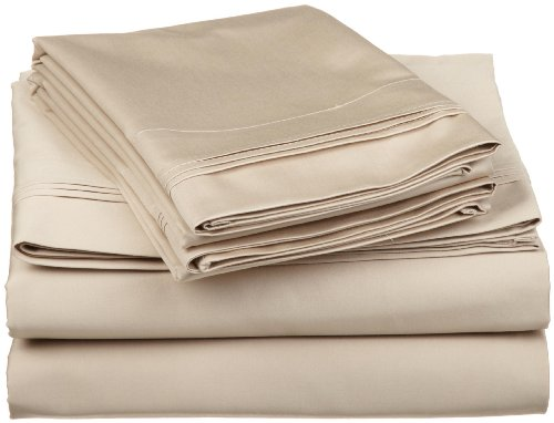 Egyptian Cotton 650 Thread Count Oversized Twin Xl Sheet Set Solid, Linen front-922426