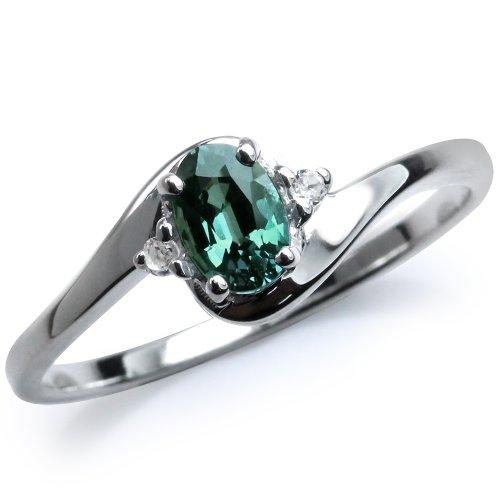 alexandrite rings: Color Change Alexandrite & White Topaz ...