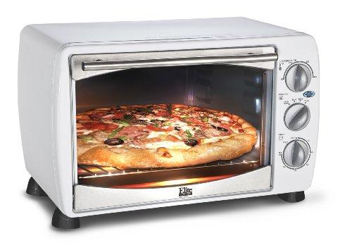 Elite Platinum ETO-180W Maxi-Matic 6-Slice Toaster Oven Broiler, White (White Toaster Oven Broiler compare prices)