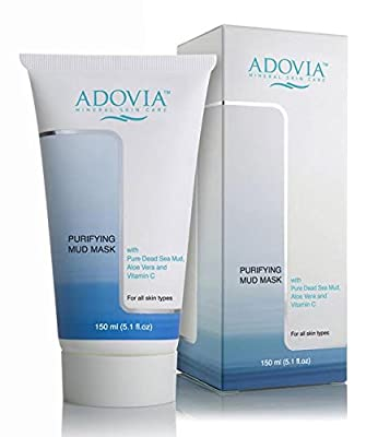 Best Cheap Deal for Adovia Facial Mask with Dead Sea Mud - Mud Mask for Men & Women - Reduces Acne & Blemishes - Lightens Skin & Scars - Natural Face Mask, Exfoliator & Facial Cleanser - Minimizes Pores - Removes Toxins by Adovia - Free 2 Day Shipping Ava